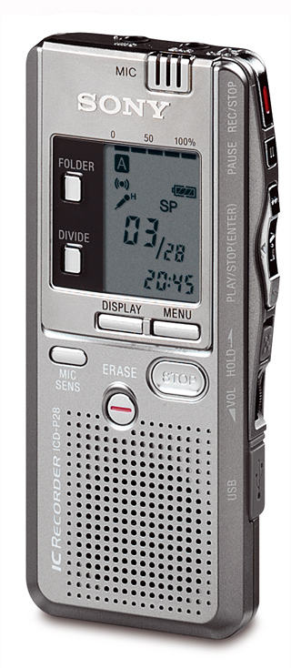 ic recorder mp3 sony software