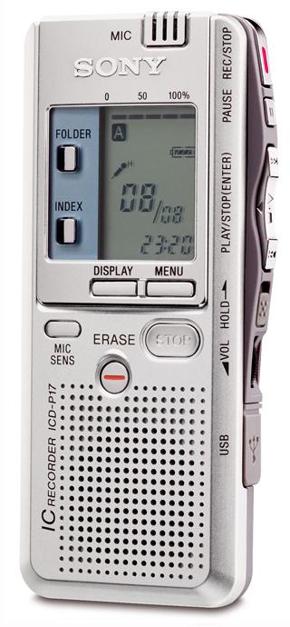 Sony ic recorder icd-p17